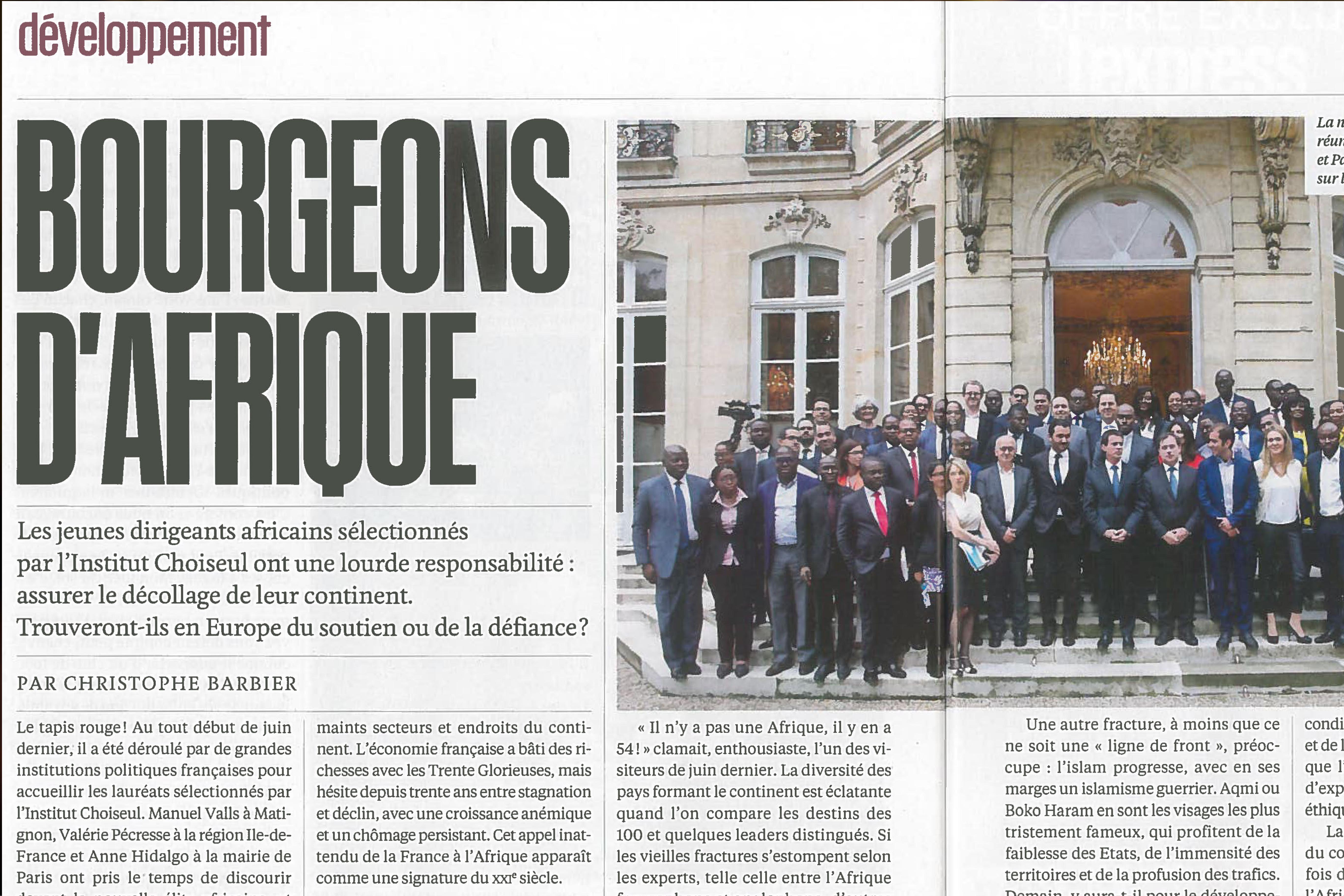«Bourgeons d'Afrique» – L'Express