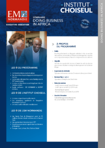 Séminaire « Doing Business in Africa »