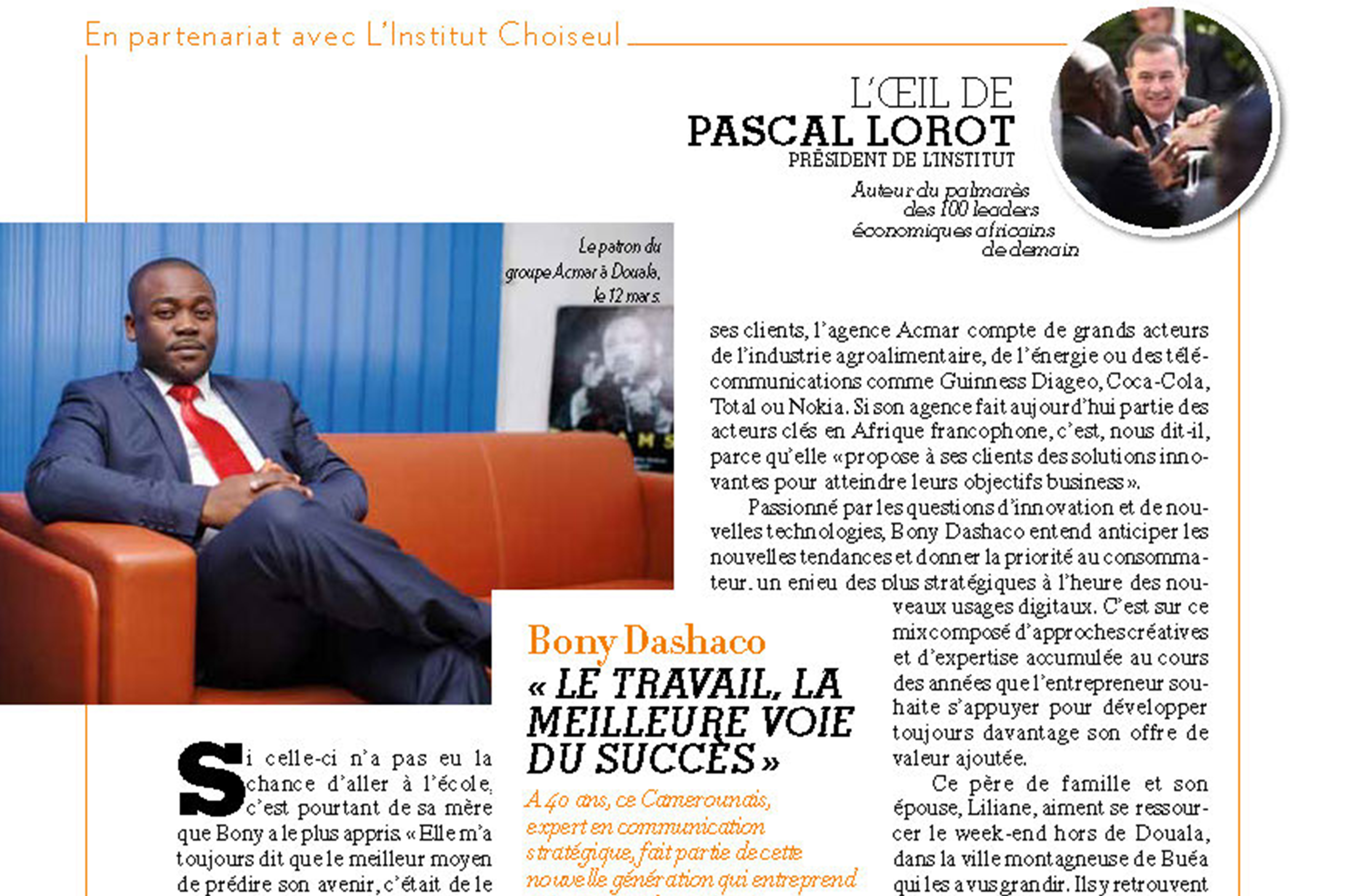 L'oeil de Pascal Lorot – Portrait of Bony Dashaco – Paris Match Afrique